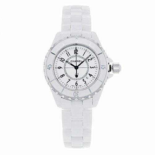 Chanel Women's H0968 J12 White Ceramic Bracelet Watch Chanel Crystal Bracelets