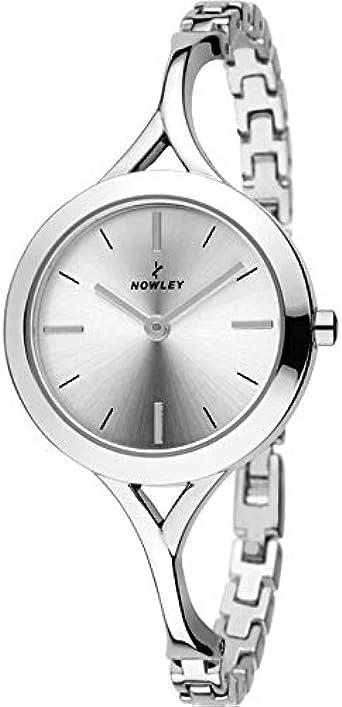 Reloj NOWLEY 8-5719-0-0 - Reloj Mujer WR 3 ATM con Caja y Correa de Metal Plateado.: Amazon.es: Relojes