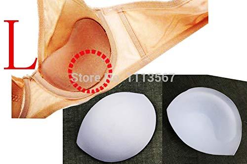 Dalab 20set White Sewing in Bra Cups Soft Thick Foam Size L 17.8 x 14.6cm Bra Pads for Bikini Pads Insert Bra Accessories WB52 by DalaB