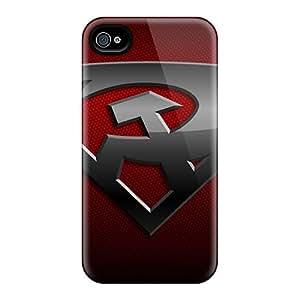 KimberleyBoyes Apple Iphone 4/4s Perfect Hard Phone Cases Custom Nice Superman Red Son Pattern [Mnp26344NiWX]