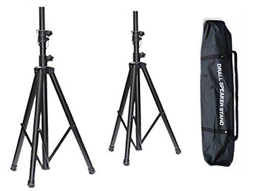 DRALL INSTRUMENTS Supporto per Casse acustiche (2 Pezzi con Tasca) - allungabile da 1,20 a 1,90 m per PA, Discoteca, palco, Festa, Modello di Evento: BSP2