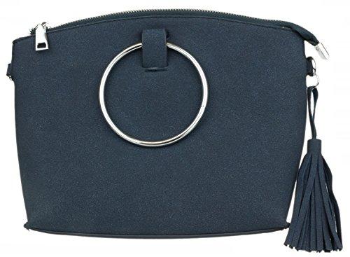 l'épaule femme Sac à Bleu à pour Marine porter Handbags Girly xOw0t