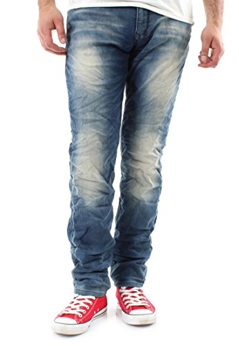 MOD Joggpants Men CORNELL Knitted Blue Denim