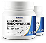 Nutricost Creatine Monohydrate 500G (2Pack) - 5000mg Per Serv, 500G and 200 Servings Each - Pure Creatine Monohydrate