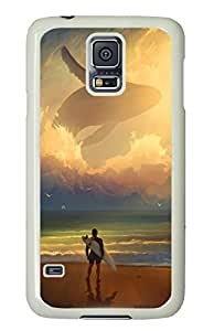 Brian114 Samsung Galaxy S5 Case, S5 Case - Customized White Hard Back Case Cover for Samsung Galaxy S5 Waiting For The Wave Top Quality Hard Case for Samsung Galaxy S5 I9600