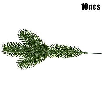 10pcs Honsin 10//30//50 SCP Artificiel Branches de Sapin Sapin de No/ël XMas Ornements Accueil D/écors Beige
