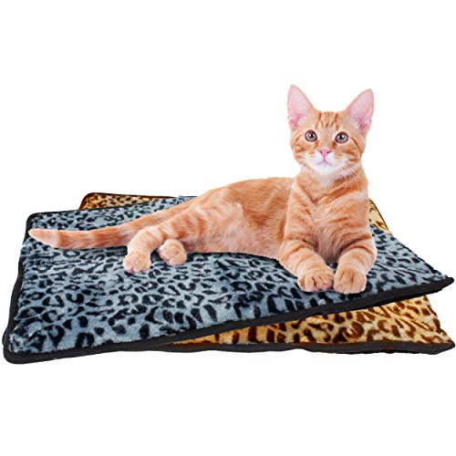 Thermal Cat Pet Dog Connectable Warming Bed Mat, Comfortable Nap, Sleeping and Crate Mat for Cats – Includes Buttons to…