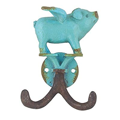 World Buyers Flying Piglet Hook Antique Turquoise 3x1.125x 4 h: Home & Kitchen