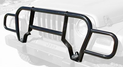 RAMPAGE PRODUCTS 7659 Black Euro Front Grille Guard for 1987-2006 Jeep Wrangler YJ & TJ