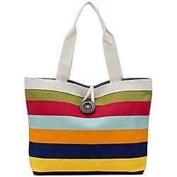 Shopping Handbag,Hemlock Women Canvas Bag Tote Purse Shoulder Bags (Red)