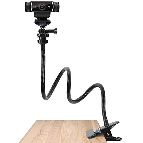Pipishell 25 Inch Webcam Stand - Flexible Desk Mount Clamp Gooseneck Stand for Logitech Webcam C930e,C930,C920, C922x,C922, Brio 4K, C925e,C615