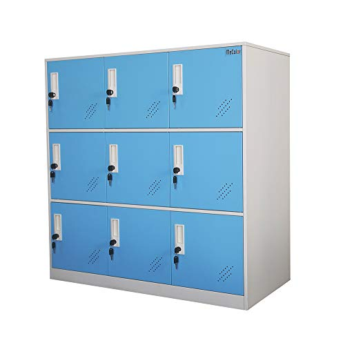 Shool and Home Locker Organizer Storage for Kids,Playground Metal Shoes and Bag Storage Cabinet (Blue)