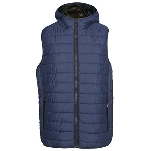 Evrimas Mens Lightweight Quilted Puffer Vest Winter Water-Resistant Warm Outwear Jacket Attached Hood(Navy,M) ()