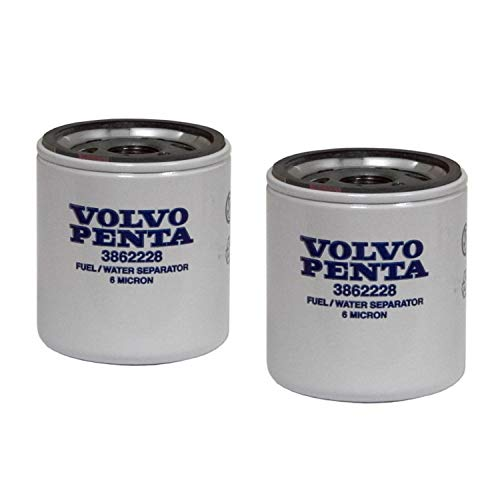 Volvo Penta Stern Drive New OEM Fuel Filter 3862228 TWO PACK 3.0L-8.2L SX
