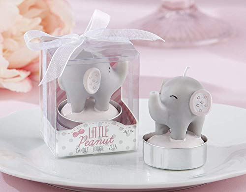 Kate Aspen Little Peanut Elephant Shaped Candle (2 Set of 4, 8 Pieces) - Guest Gift, Party Favor or Decorations for Baby Showers & Birthdays]()
