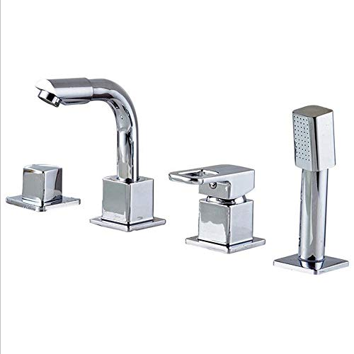 MICHEN Faucet, All-Copper Four-Piece Faucet, hot and Cold 360-degree Rotating Faucet