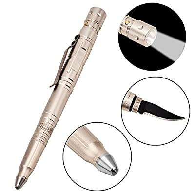 WAOAW 4 in 1 Tactical Pen with Glass Breaker for Survival and Self Defense EDC Tool Kits from WAOAW