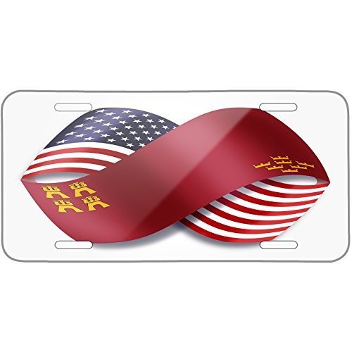 Infinity Flags USA and Murcia region Spain Metal License Plate 6X12 Inch by Saniwa