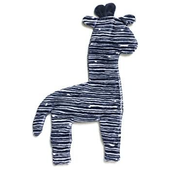West Paw Design Floppy Giraffe Squeak Toy for Dogs, Navy Stripe (Mini)