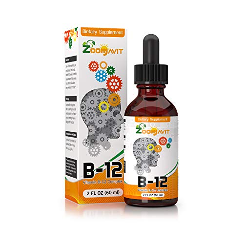 Vitamin B Complex Liquid Drops with Fast Absorption – Super B Liquid Complex Vitamins B2, B3, B5, B6 & B12 – Natural Energy Boost, Mental Focus & Healthy Immune System