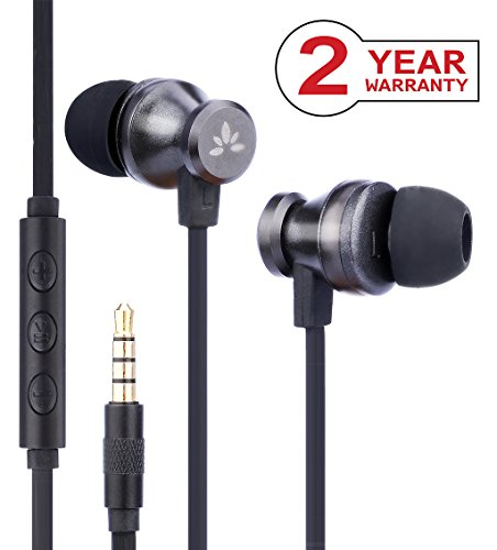 Avantree Noise Isolating Wired Earbuds with Mic, Metal In Ear Headphones, Stereo Earphones for Crystal Clear Sound & Good Bass, Support iPhone, iPad, Pixel, Samsung, etc. [2 Year Warranty] -