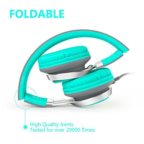 HeadphonesAilihen-C8-Lightweight-Foldable-Headphones-with-Microphone-for-iPhoneiPadiPodAndroid-SmartphonesPCLaptopMacMp3mp4TabletHeadphone-Headset-for-Music-or-Gaming-