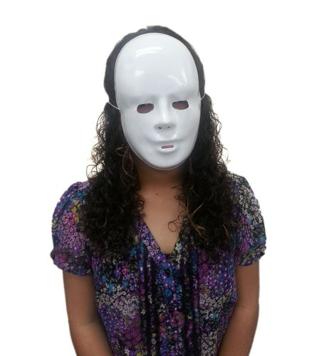 Plastic White Full Mask - Plastic Obscure White Face Mask
