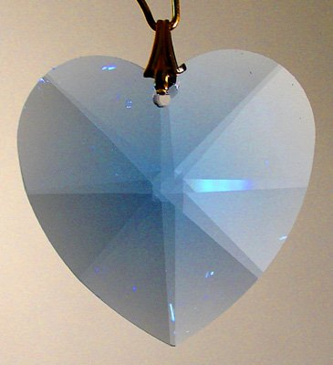 Swarovski 28mm Sapphire Large Crystal Faceted Heart
