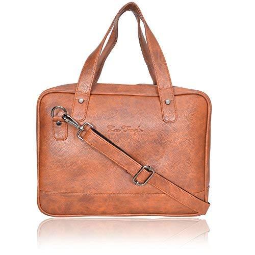 (Zen Temple Handmade Briefcase Top Grain Leather Laptop Bag Messenger Shoulder Bag for Business Office 11 inch laptop)