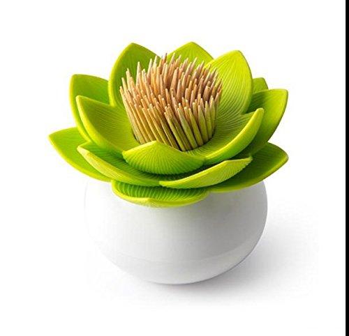 JD Million shop lotus cotton bud holder base room decorate / Lotus Toothpicks holder Toothpick case