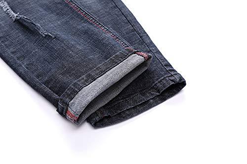 Con Annata Tasche Denim Casuale Sportivi Leggings Tasca Pantalone Uomo Tuta Jogging Della Abcone Uomini Pieghe Jeans Per Blu Pants Pantaloni xTqgIUI