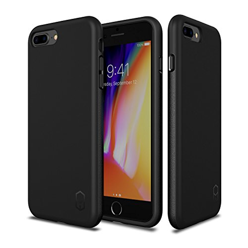 iPhone 8 Plus 7 Plus Case, Patchworks ITG Level Case in [Black] Rough Side Texture Grip Drop Protection Anti-Fingerprint Matte Surface Slim Fit Solid Case for iPhone 8 Plus (2017) iPhone 7 Plus (2016)