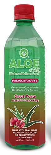 - Pomegranate AloeCure Juice with Pulp, Aloe Vera Drink, Pack of 12 500ml Bottles
