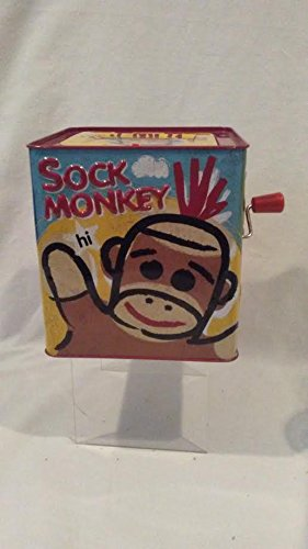 SOCK MONKEY Jack In The Box, Sock Monkey Toy, Sock Monkey Collectible