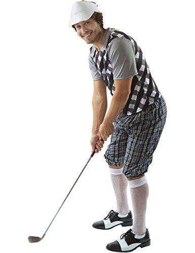 Male Golfer Costume (Black & White) (Golfer Costume Men)