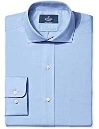 Men's Classic Fit Solid Non-Iron Dress Shirt (3 Collars...