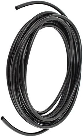 RETYLY 6mm x 4mm Pneumatisch Luftkompressor PU Schlauch Rohrleitung 3 Meter schwarz