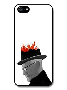 AMAF ? Accessories Breaking Bad Heisenberg Walter White Fire Art case for iPhone 5 5S