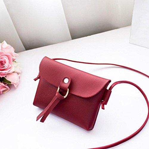 Rakkiss Coin Bag Cover Red Phone Fashion Girl Shoulder Tassels Messenger Bag Handbags Women Solid Bag Crossbody 0rH0wqY