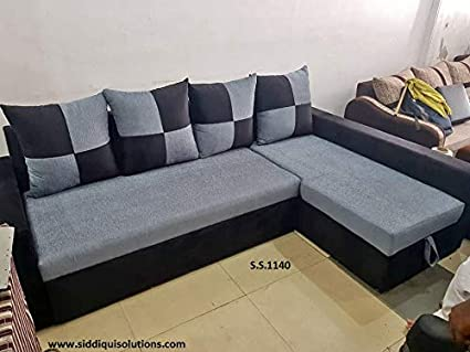 Fine Siddiqui Solutions Double Five Seater Sofa Sectional Bed Finish Color Grey Mechanism Type Pull Out Lamtechconsult Wood Chair Design Ideas Lamtechconsultcom