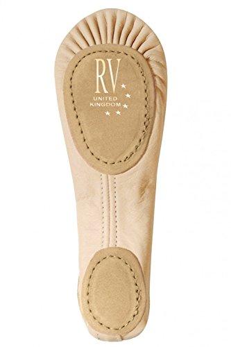 Roch Valley Ballettschläppchen aus Leder mit geteilter Sohle Blassrosa