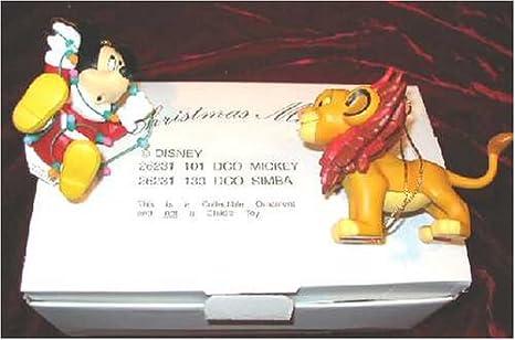 Grolier DISNEY Christmas Magic Mickey & Simba Ornament 26231-101 & 26231-133 - Amazon.com: Grolier DISNEY Christmas Magic Mickey & Simba Ornament