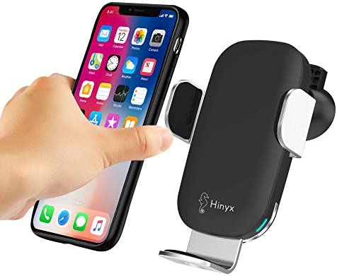 Wireless Car Charger, 10W Qi Fast Wireless Charging Auto-Clamping Car Mount Air Vent Phone Holder Compatible with iPhone11 11 Pro 11 Pro Max XS Max XS XR X 8 8 , Samsung S10 S9 S8 Note10 Note9, LG V30