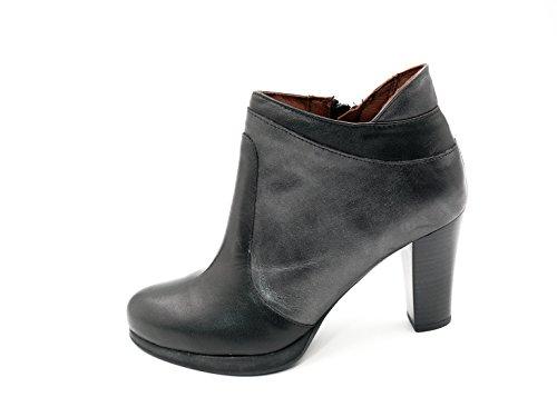 559 color color mujer PITILLOS piel combinado negro 1488 gris Botines negro en aFv0BnwBq