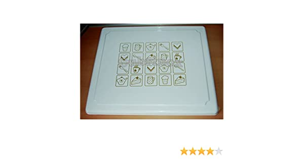 cubre vitrocerámica blanca