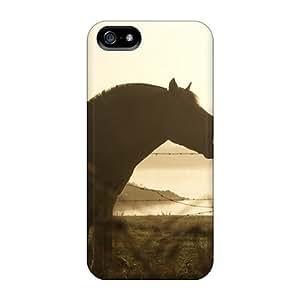 AbbyRoseBabiak Shockproof Scratcheproof Horse Silhouette Animals Hard Cases Covers For Iphone 5/5s