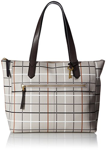 Fossil ZB7485020, Grey Grid Print by Fossil