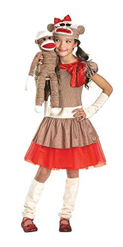 Sock Monkey Girl Costume - (Sock Monkey Costume Kids)