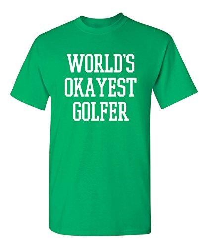 Feelin Good Tees World's Okayest Golfer Sports Golfing Golf Funny T Shirt L Irish ()