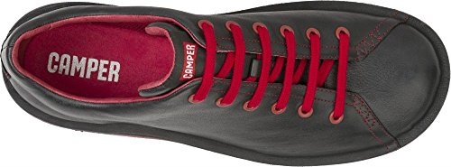 Camper Beetle 18648 Nero Rosso Uomo Lo Pelle Sneakers Scarpe
